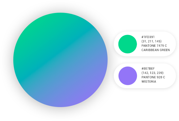 Detailed color specs graphic
